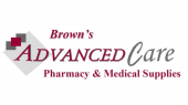 Browns advanced care pharmacy  medical supplies logo 1920x1080